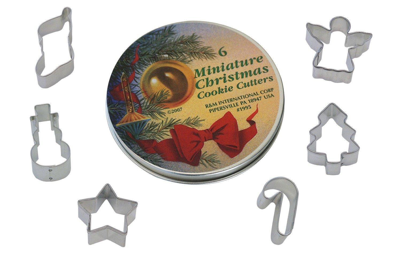 By AH -Set of 6 TINNED Cookie Cutters 'MINI CHRISTMAS' -Κουπάτ Χριστουγεννιάτικα Μικρά -σετ με 6 τεμ. 4εκ