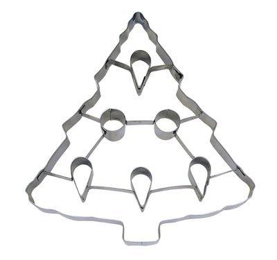 By AH -PUNCH-OUT Cookie Cutter -CHRISTMAS TREE -Κουπάτ Χριστουγεννιάτικο Δέντρο με Σχέδια Εσωτερικά - 19εκ