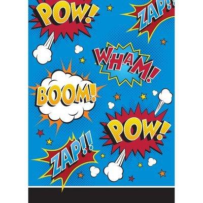 SALE!!! By AH - Superhero Slogans Loot Bags 8pcs - Τσαντούλες Συνθήματα Υπερήρωων για Γέμισμα με Δωράκια & Γλυκά σε Πάρτι - 8τεμ - 22.8x16.5εκ
