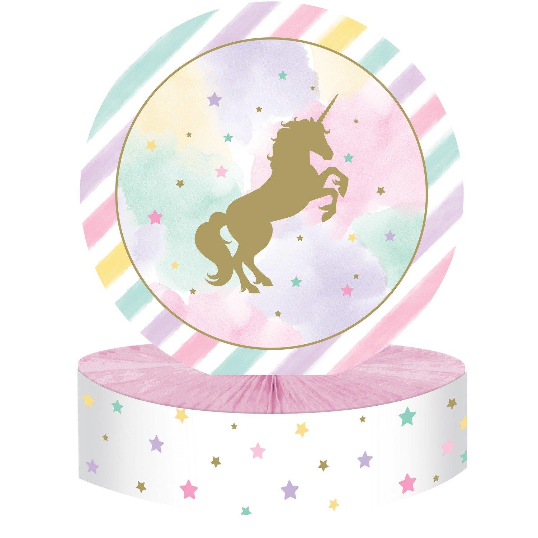 SALE!!! By AH - Unicorn Sparkle Foil Centerpiece - Αλουμινένιο Κεντρικό Θέμα Τραπεζιού Λαμπερός Μονόκερος - 22,8x30,4εκ -