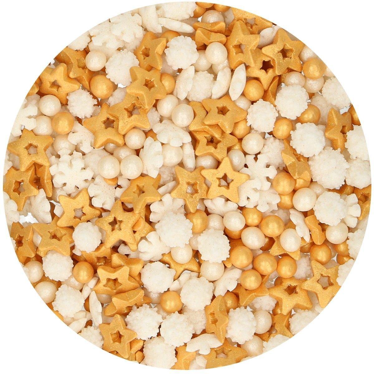 FunCakes Sprinkle Mix 180γρ -GOLD MEDLEY -Κονφετί Χρυσό