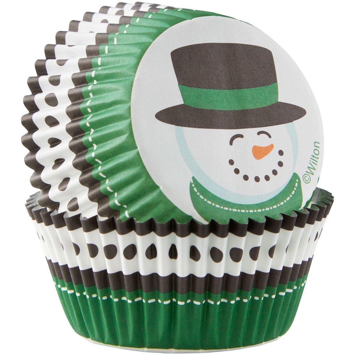 Wilton Christmas Cupcake Cases -SNOWMAN -θήκες ψησίματος χιονάνθρωπος 75 τεμάχια
