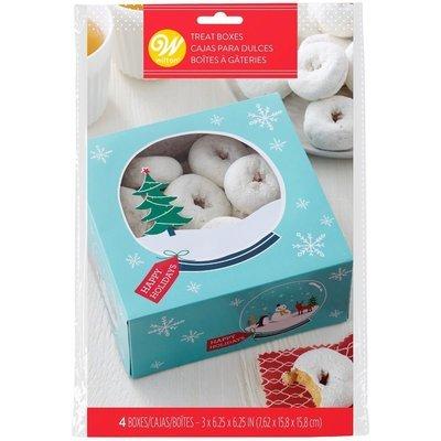 Wilton Cookie Boxes Snow Globe Pack of 3 κουτιά μπισκότων  με παράθυρο χριστουγεννιάτικο θέμα 7,6 x 15,8 x 15,8εκ
