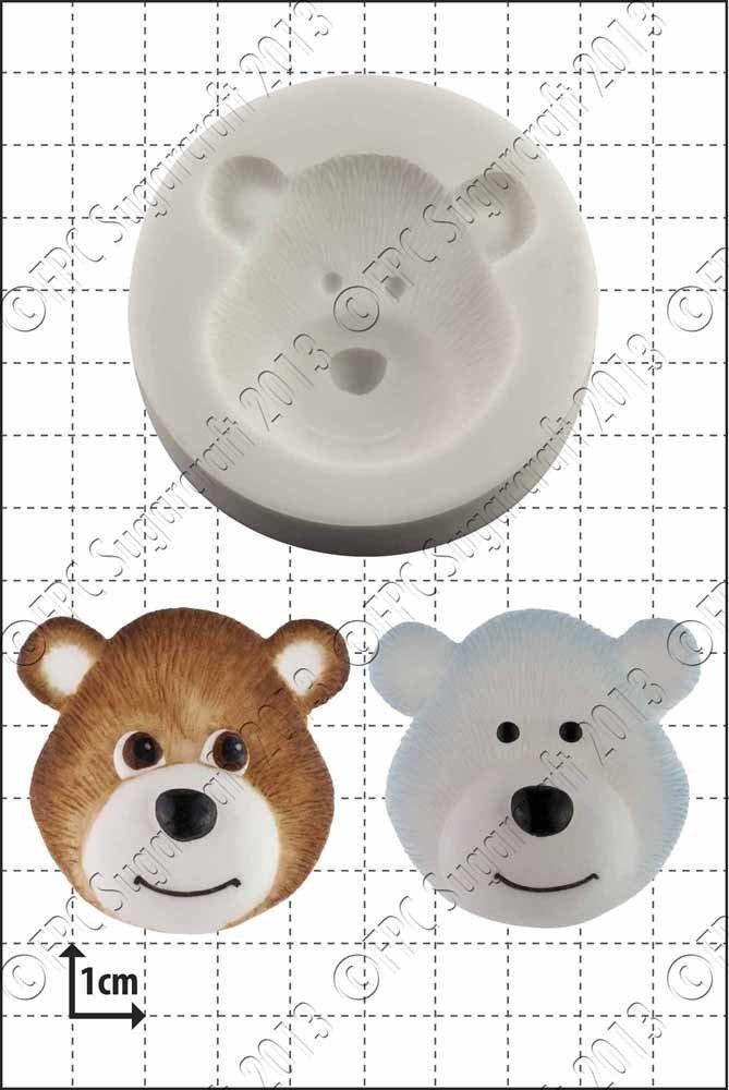 FPC Silicone Mould -BEAR HEAD -Καλούπι Κεφαλάκι Αρκούδας