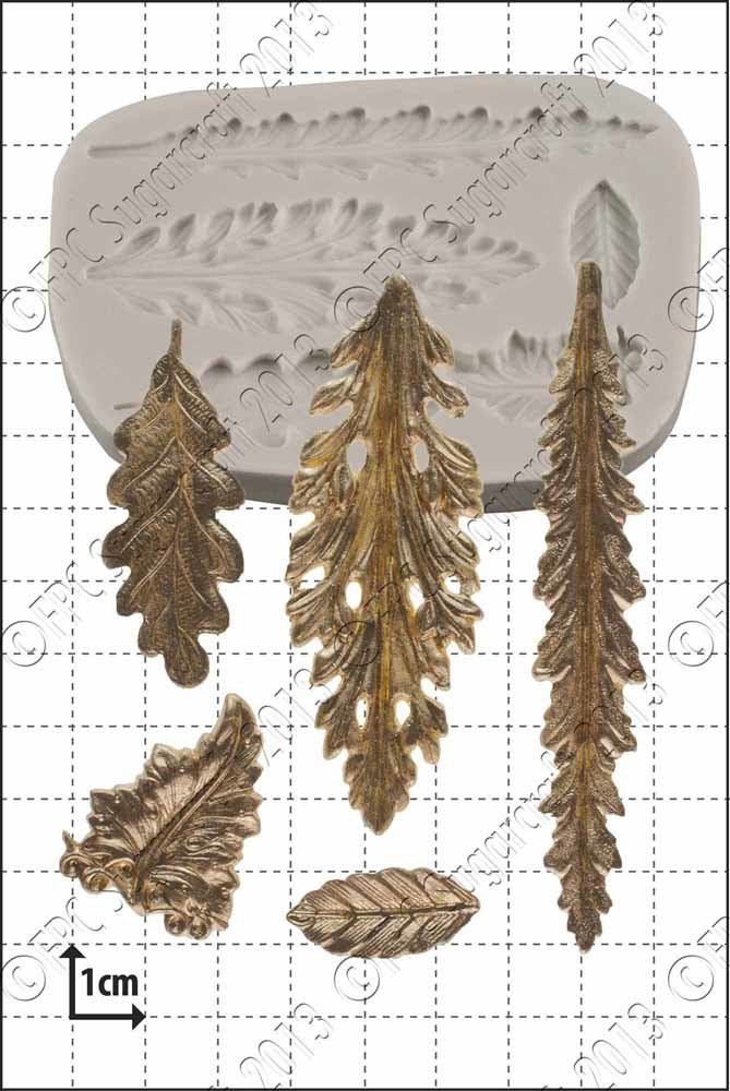 FPC - Silicone Mould - Decorative leaves - Διακοσμητικά Φύλλα Καλούπι