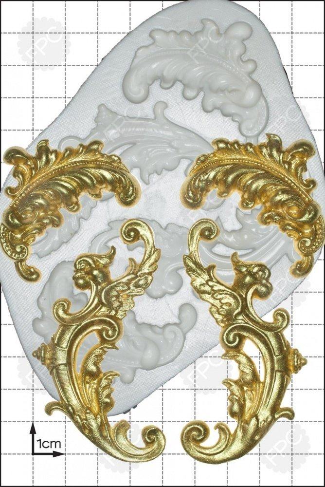 FPC - Feather Scrolls Silicone Mould - Καλούπι Φτερά Κουρμπαριστά