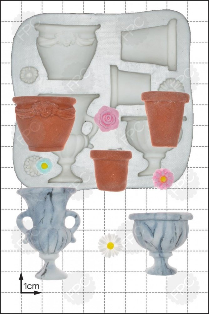 FPC Silicone Mould -GARDEN URNS -Καλούπι Γλάστρα