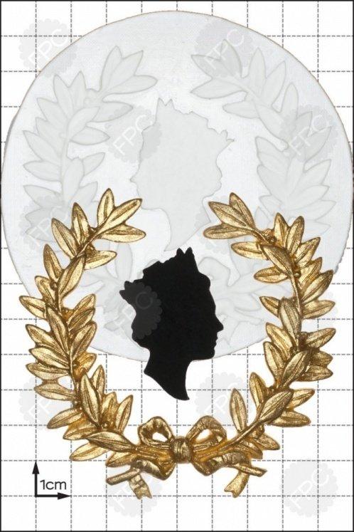 FPC - Silicone Mould - Queen's Head Wreath - Βασιλικό Στεφάνι Καλούπι