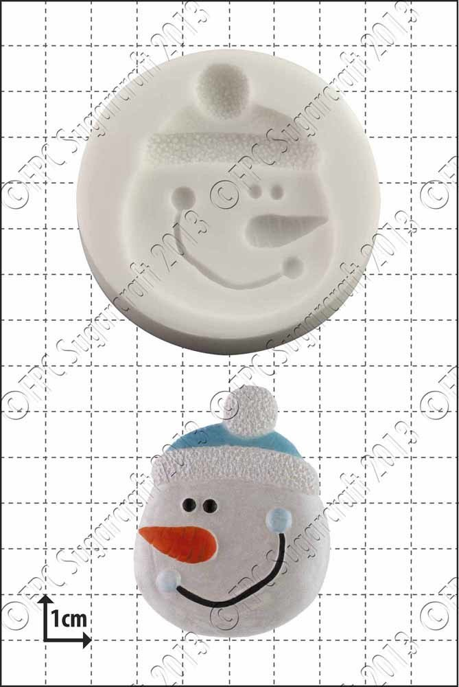 FPC  - Silicone Mould - Snowman Face - Φατσούλα Χιονάνθρωπου Καλούπι