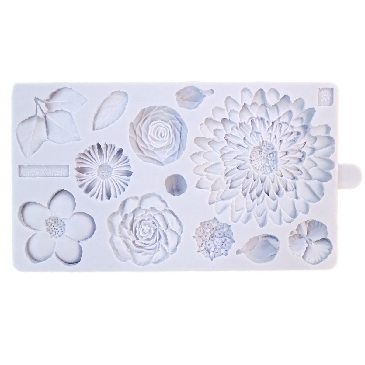 Karen Davies - Silicone Mould Buttercream Flowers - Καλούπι Λουλούδια Βουτυρόκρεμας - Περίπου 21x12εκ