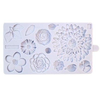 Karen Davies Silicone Mould -BUTTERCREAM FLOWERS -Καλούπι Λουλούδια Βουτυρόκρεμας