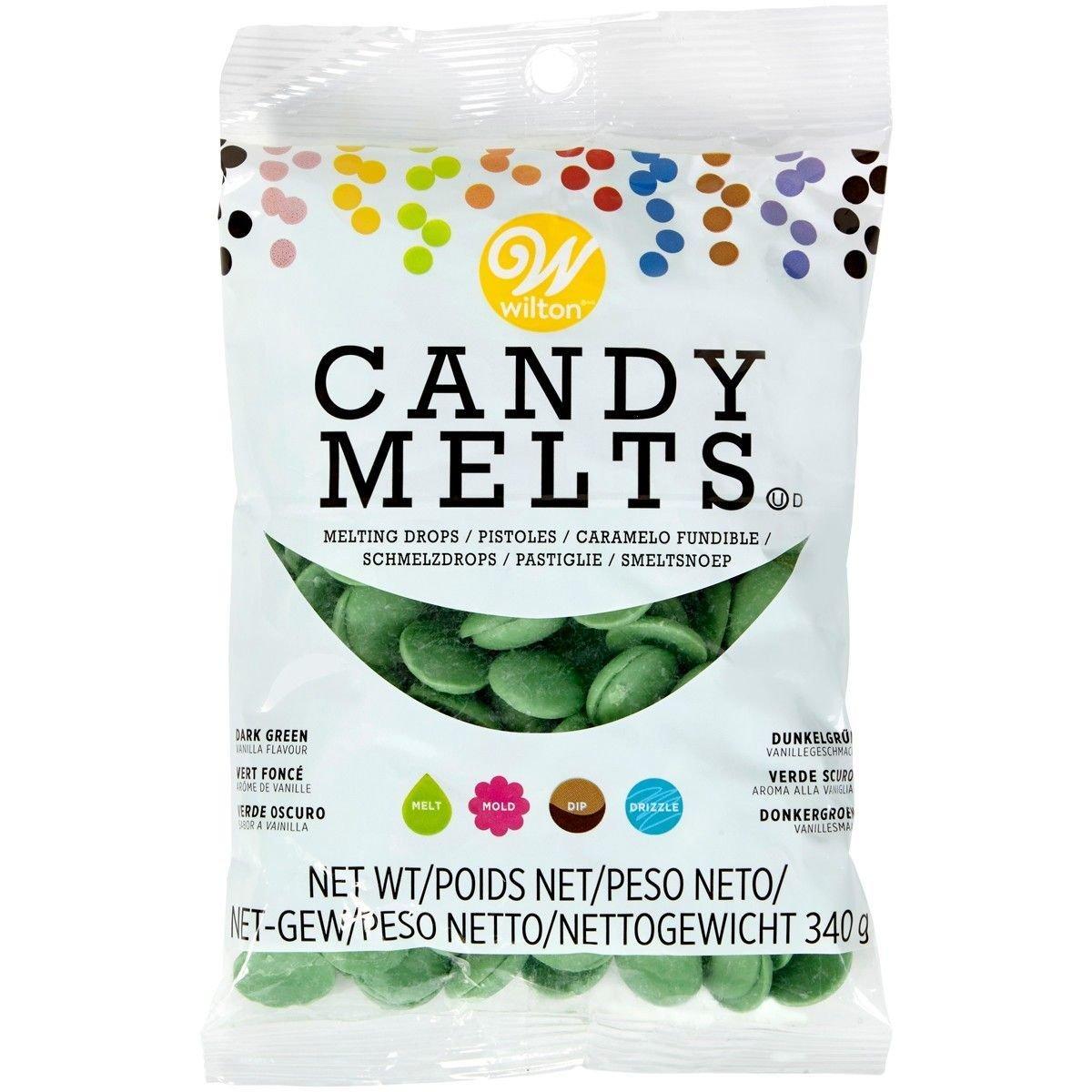Wilton Candy Melts® Dark Green 340g - Πράσινο Σκούρο κομματάκια