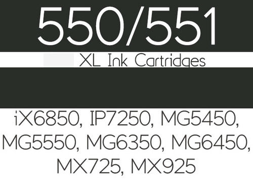 Edible Ink Cartridge for Canon iX6850, IP7250, MG5450, MG5550, MG6350, MG6450, MG7150, MX725 And MX925 - Large Black - Βρώσιμο Μελάνι Μαύρο Μεγάλο