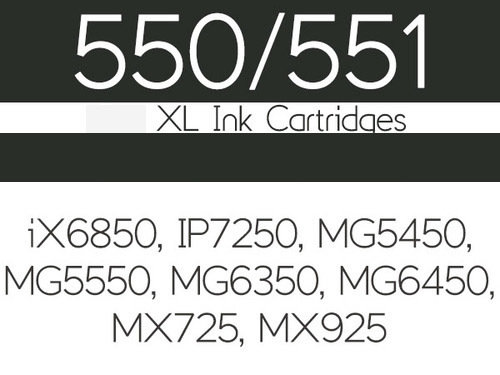 Edible Ink Cartridge -BLACK SMALL for Canon -iX6850, IP7250, MG5450, MG5550, MG6350, MG6450, MG7150, MX725 And MX925 -Βρώσιμο Μελάνι Μαύρο Μικρό