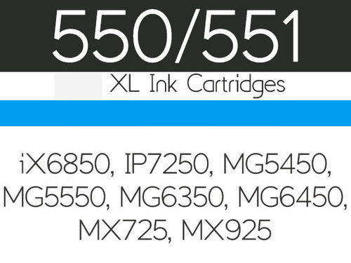 Edible Ink Cartridge -CYAN BLUE for Canon iX6850, IP7250, MG5450, MG5550, MG6350, MG6450, MG7150, MX725 and MX925 -Βρώσιμο Μελάνι Μπλε