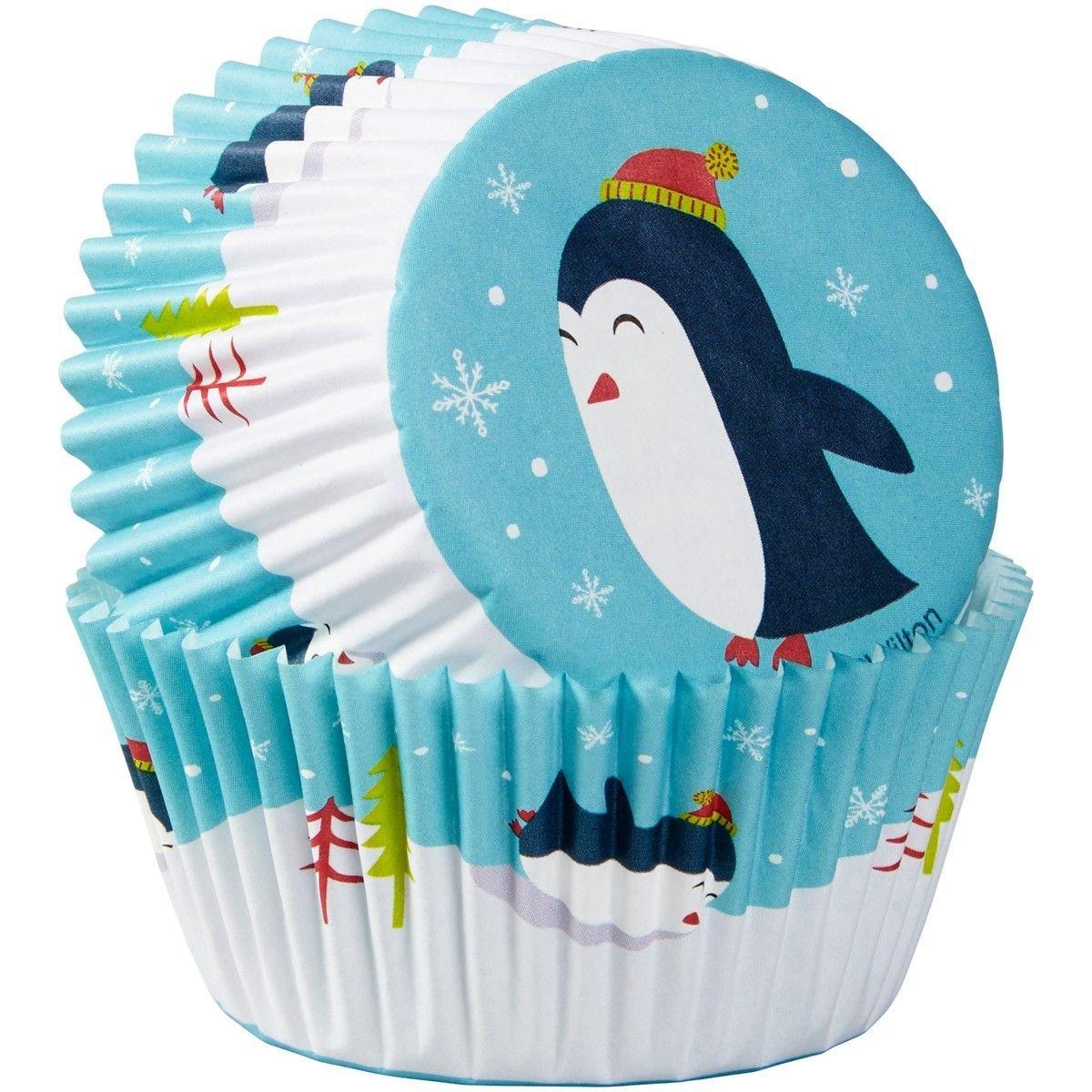 Wilton Christmas Cupcake Cases -PENGUINS -θήκες ψησίματος πιγκουίνος 75 τεμ