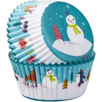 Wilton Christmas Cupcake Cases -SNOWMAN with CHARACTERS -θήκες ψησίματος χιονάνθρωπος με χαρακτήρες 75 τεμ