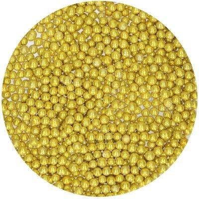 FunCakes Sugarballs -4mm METALLIC GOLD 80g Χρυσές Μεταλλικές Ζαχαρένιες Μπιλίτσες/Πέρλες
