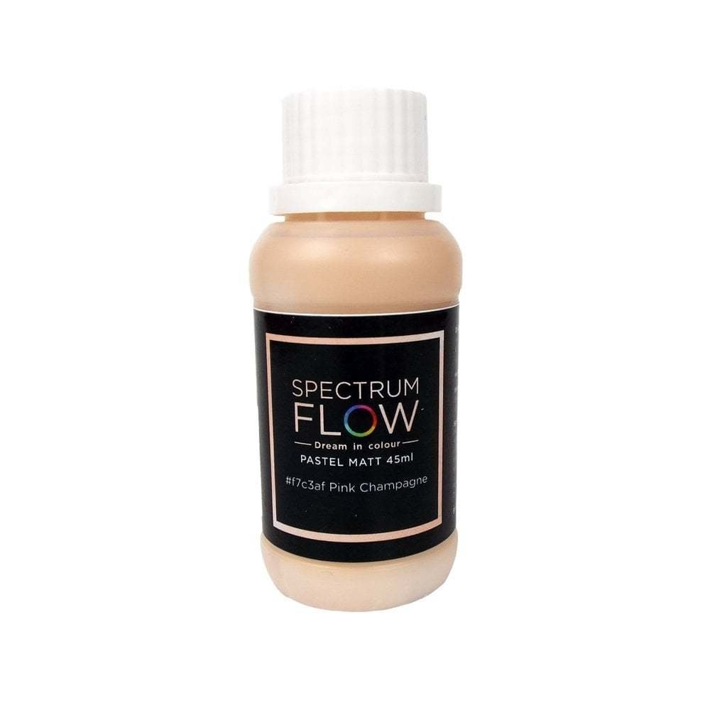 Spectrum Flow Edible Airbrush Paint 45ml PASTEL MATT PINK CHAMPAGNE -Χρώμα Αερογράφου παστέλ ματ ροζ σαμπανιζέ