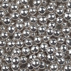 #Sugarballs -SILVER 6mm Βρώσιμες Μπιλίτσες 450γρ
