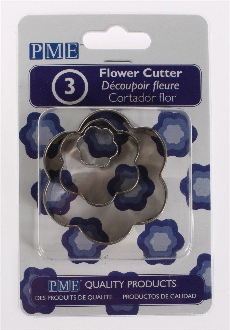 PME - Basics Flower Cutters 3pcs - Βασική Σειρά Κουπάτ Λουλούδια - 3τεμ - 1.7 + 3.5 + 5.5εκ