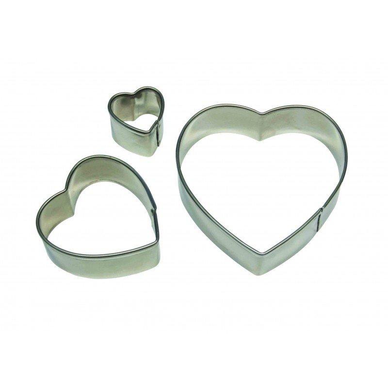 PME Basics -Set of 3 -HEART Cutters - Κουπάτ Καρδιές 3 τεμ