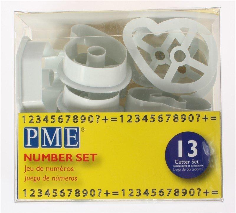 PME Cutters -NUMBERS -Set of 13 -Κουπάτ Νούμερα 13 τεμ -5εκ