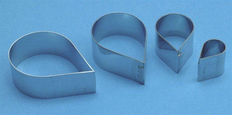 PME Cutters -Set of 4 -ROSE PETALS (Metal) -Κουπάτ Πέταλα Τριαντάφυλλου 4 τεμ