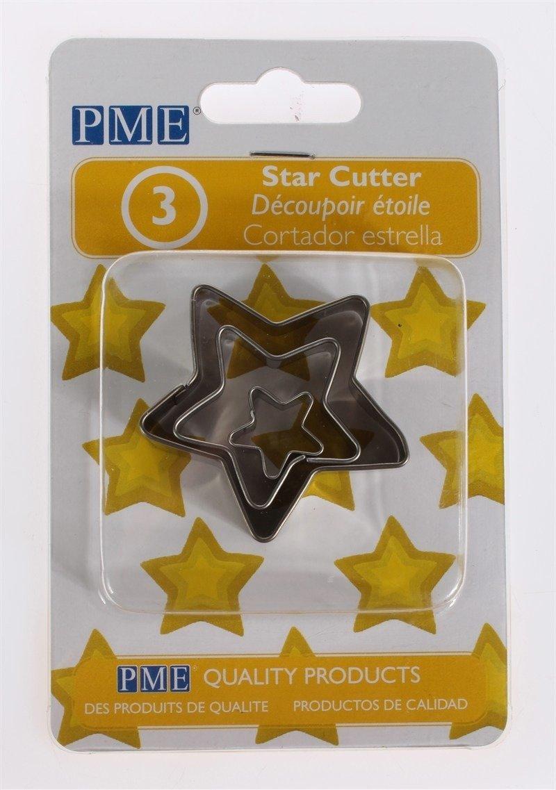 PME - Basics Star Cutters 3pcs - Βασική Σειρά Κουπάτ Αστέρια - 3τεμ - 1.7 + 3.7 + 5.7εκ