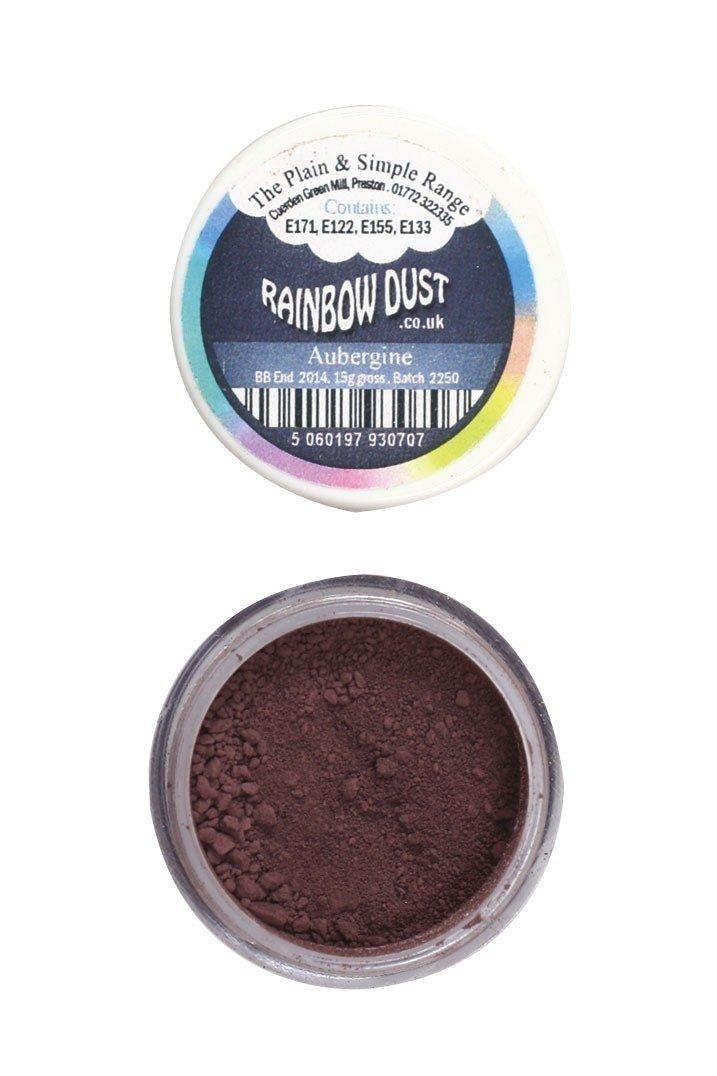 Rainbow Dust - Edible Dust Matt Aubergine - Βρώσιμη Σκόνη Ματ Μελιτζανί