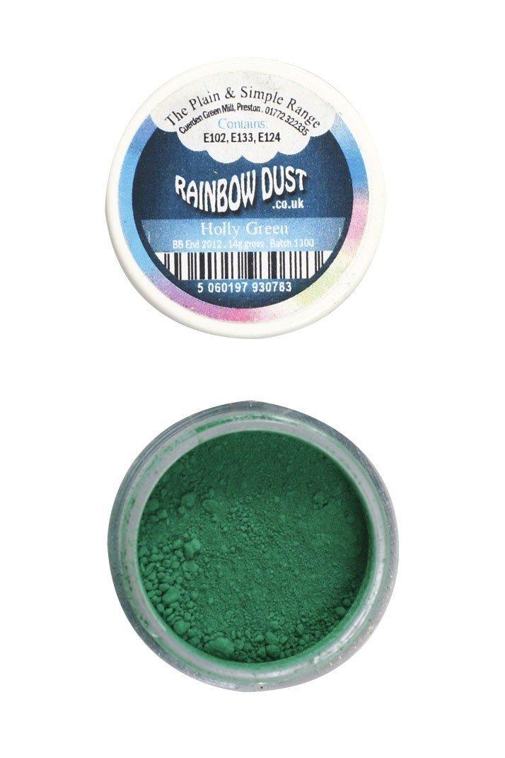 Rainbow Dust Edible Dust -Matt HOLLY GREEN -Βρώσιμη Σκόνη Ματ Πράσινος Πρίνος