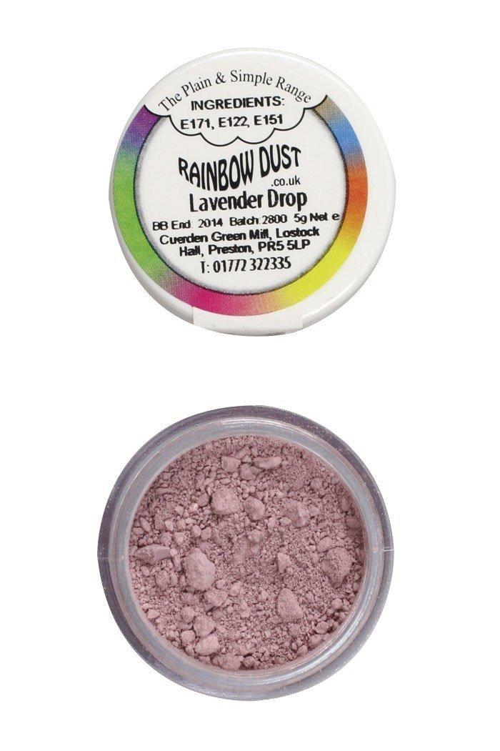 Rainbow Dust Edible Dust -Matt LAVENDER DROP -Βρώσιμη Σκόνη Ματ Σταγόνα Λεβάντας