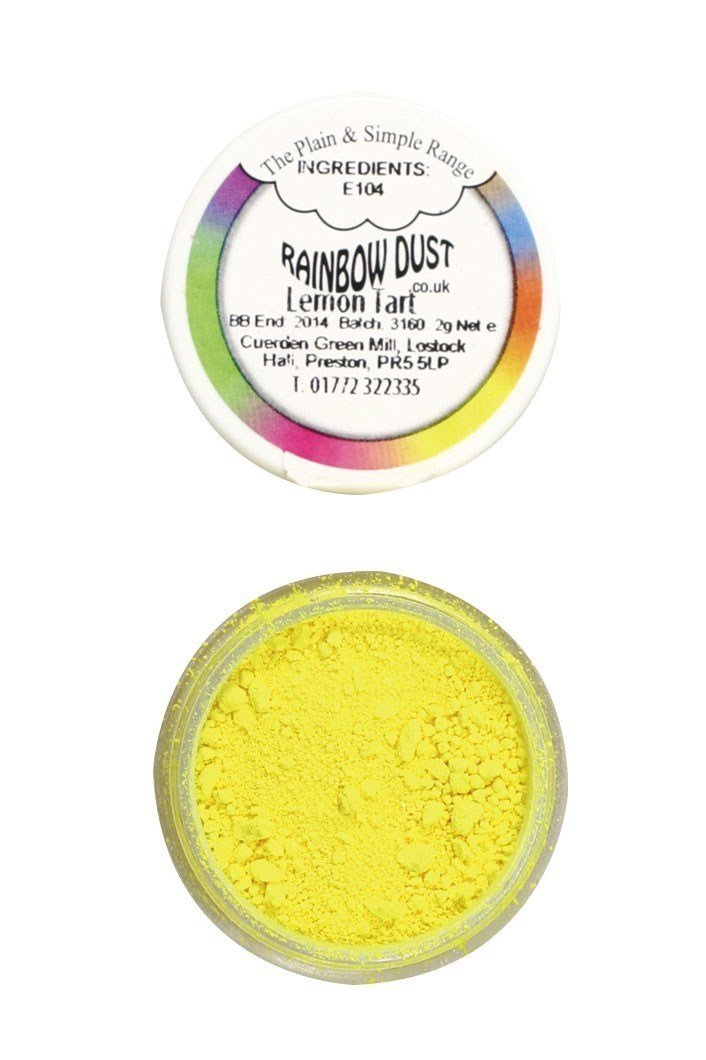 Rainbow Dust - Edible Dust Matt Lemon Tart - Βρώσιμη Σκόνη Ματ Τάρτα Λεμόνι