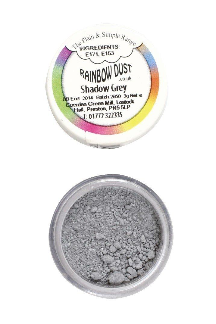 Rainbow Dust - Edible Dust Matt Shadow Grey - Βρώσιμη Σκόνη Ματ Γκρι Σκιά