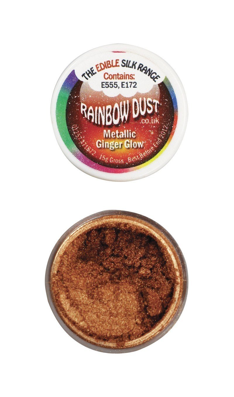 Rainbow Dust - Edible Dust Metallic Ginger Glow - Βρώσιμη Σκόνη Μεταλλική Κόκκινη Πιπερόριζα