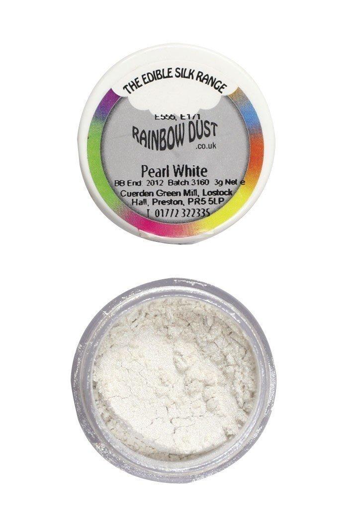 Rainbow Dust - Edible Dust Pearl White - Βρώσιμη Σκόνη Περλέ Λεύκο
