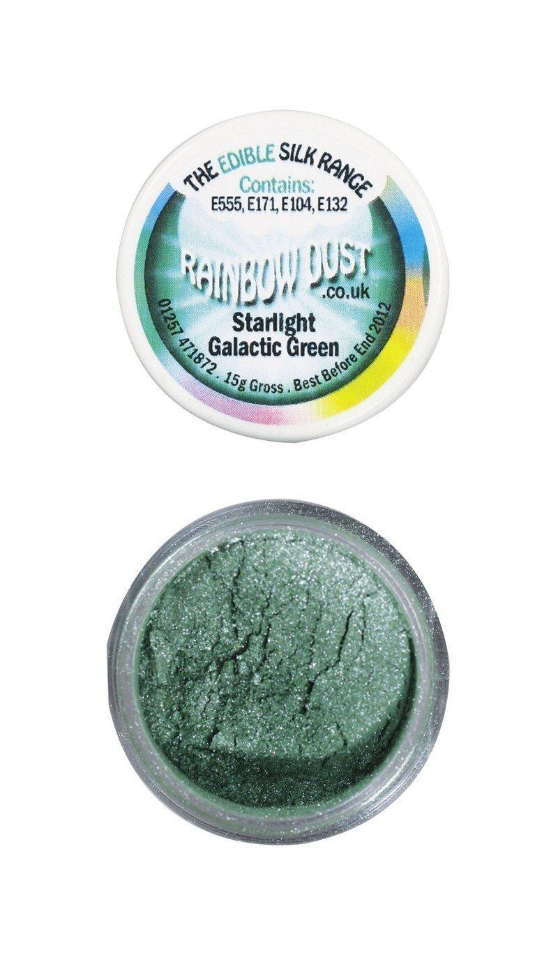 Rainbow Dust - Edible Dust Starlight Galactic Green - Βρώσιμη Σκόνη Αστραφτερό Γαλαξιακό Πράσινο