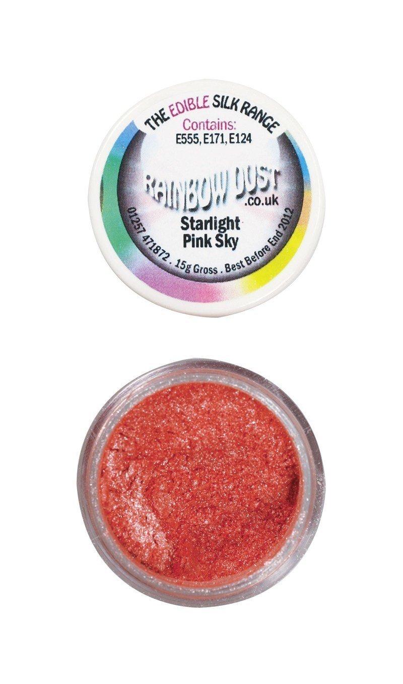 Rainbow Dust Edible Dust -Starlight PINK SKY -Βρώσιμη Σκόνη Αστραφτερός Ροζ Ουρανός