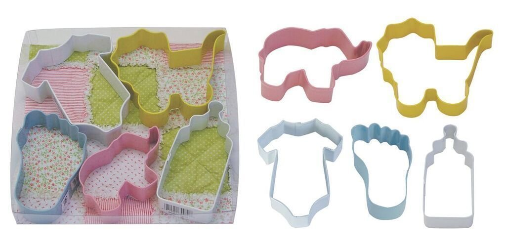 By AH -Set of 6 Cookie Cutters -BABY MIX -Κουπάτ Μωρουδίστικα σετ 6 Τεμ.