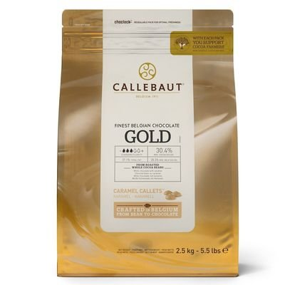 SALE!!! Callebaut Chocolate Callets -GOLD (CARAMEL) CHOCOLATE -Σταγόνες Βέλγικης Σοκολάτας Χρυσή (Καραμέλα) 2.5 κιλά ΑΝΑΛΩΣΗ ΚΑΤΑ ΠΡΟΤΙΜΗΣΗ 22/11/2019