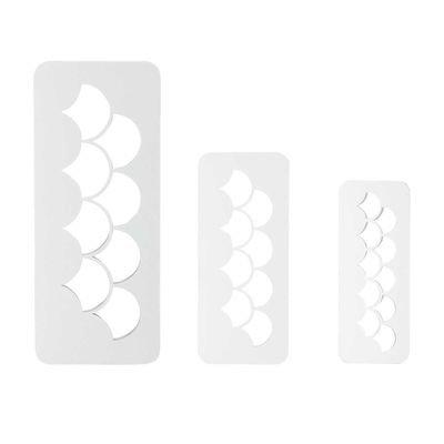 PME Geometric Multicutters -Set of 3 -FISH/MERMAID SCALES -Πολλαπλό Κουπάτ Λέπια 3 τεμ
