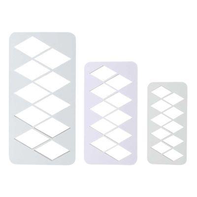 PME Geometric Multicutters -Set of 3 -EXTRA LARGE DIAMONDS -Πολλαπλό Κουπάτ Γεωμετρικό Μεγάλος Ρόμβος 3 τεμ