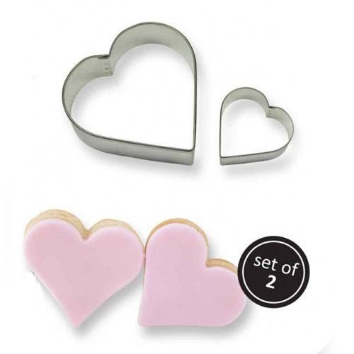 PME Cookie Cutters -Set of 2 -HEARTS -Κουπάτ Καρδιές 2τεμ