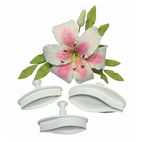 PME Plunger Cutters -Set of 2 -LILY -Κουπάτ με Εκβολέα Κρίνο Μεσαίο 2 τεμ