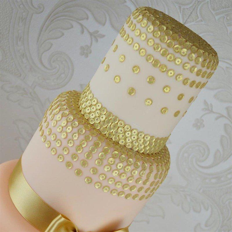 Claire Bowman - Cake Lace Mat Sequins - Πατάκι με Σχέδιο Πούλιες - 40x30εκ