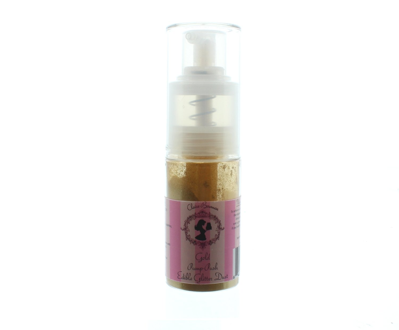 Claire Bowman Pump Spray Edible Glitter Dust -GOLD -Μπουκαλάκι Αντλίας Βρώσιμη Χρυσόσκονη Χρυσή 10γρ