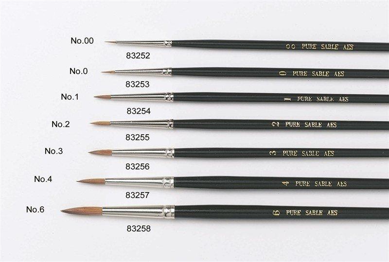 By Culpitt -Sable Artist Brush no.3 -Πινέλο με Mαλακές Tρίχες