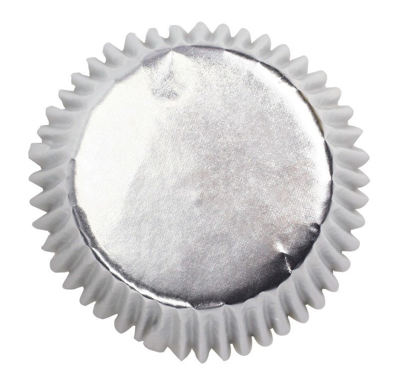Culpitt Cupcake Cases -METALLIC SILVER -Αλουμινένιες Θήκες Ψησίματος -Μεταλλικό Ασημί 45 τεμ