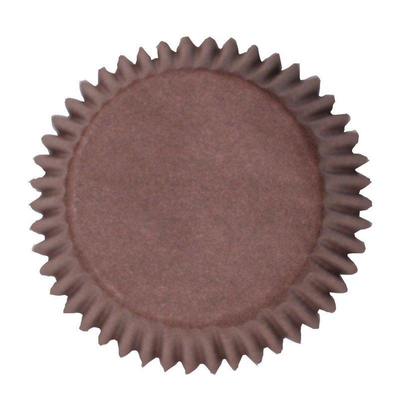 Cake Star Cupcake Cases -PLAIN BROWN -Θήκες Ψησίματος -Καφέ 50 τεμ