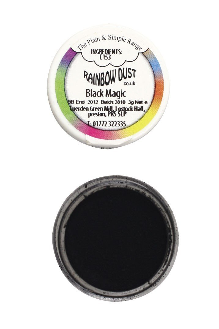 Rainbow Dust Edible Dust -Matt BLACK MAGIC -Βρώσιμη Σκόνη Ματ Μαύρη Μαγεία